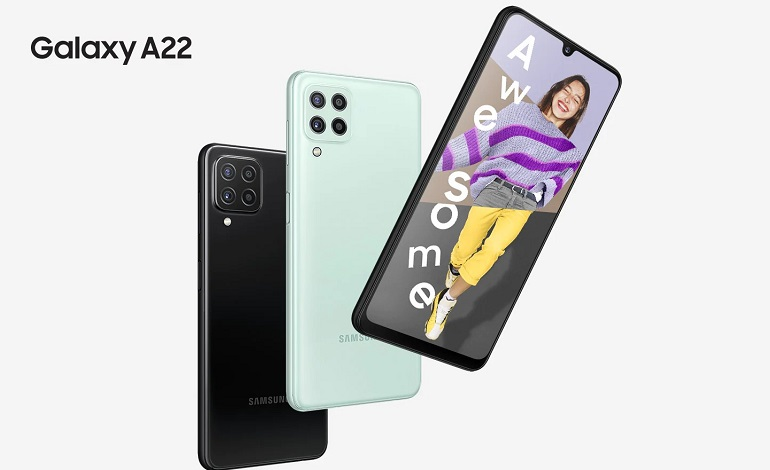 galaxy a22 4g official india - نسخه 4G گوشی سامسونگ گلکسی A22 معرفی شد