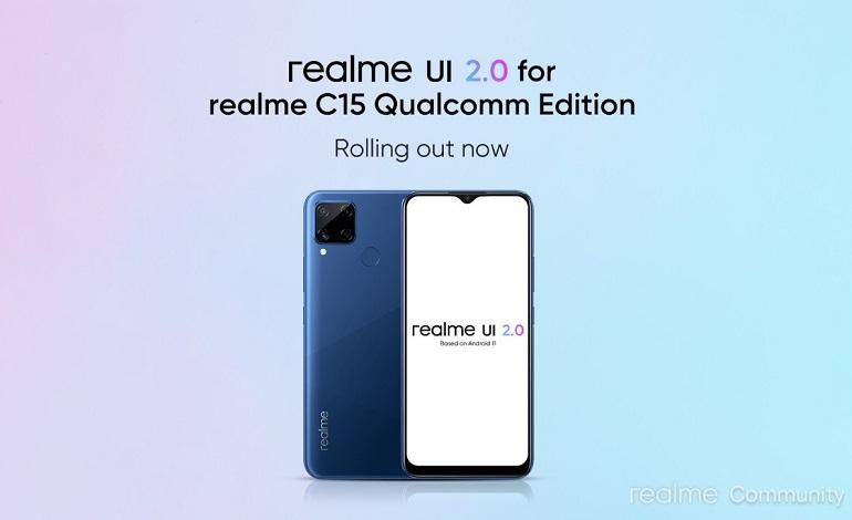 realme c15 qualcomm edition realme ui 2 android 11 update - ریلمی C15 کوالکام ادیشن آپدیت اندروید 11 را دریافت کرد