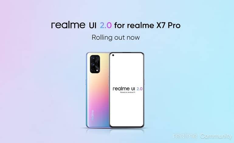 realme x7 pro android 11 realme ui 2 update - ریلمی X7 پرو آپدیت پایدار اندروید 11 را دریافت کرد