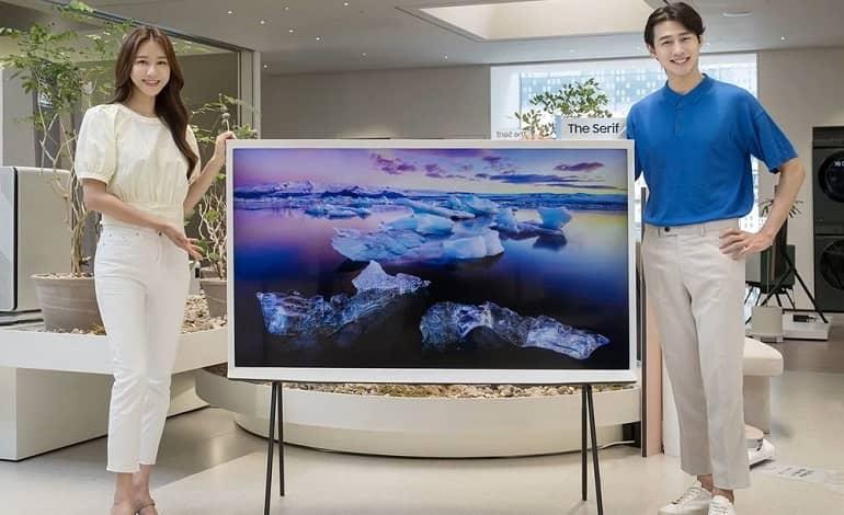 samsung serif 65 - رونمایی سامسونگ از تلویزیون هوشمند 65 اینچی The Serif