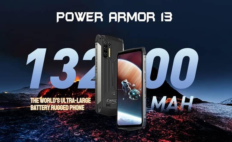 ulefone armor power 4 - رونمایی یولفون از گوشی Power Armor 13 با باتری بزرگ