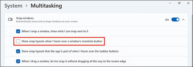 4 turn off snap layouts - آموزش غیرفعال کردن Snap Layouts در ویندوز 11