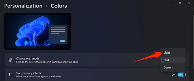 7 light mode windows 11 - نحوه فعال کردن حالت تاریک در ویندوز 11