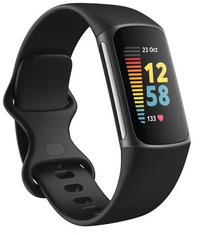 Fitbit Charge 5 Render 3QTR Core Black Graphite  1  - فیب بیت Charge 5 با طراحی گرد و نمایشگر رنگی معرفی شد