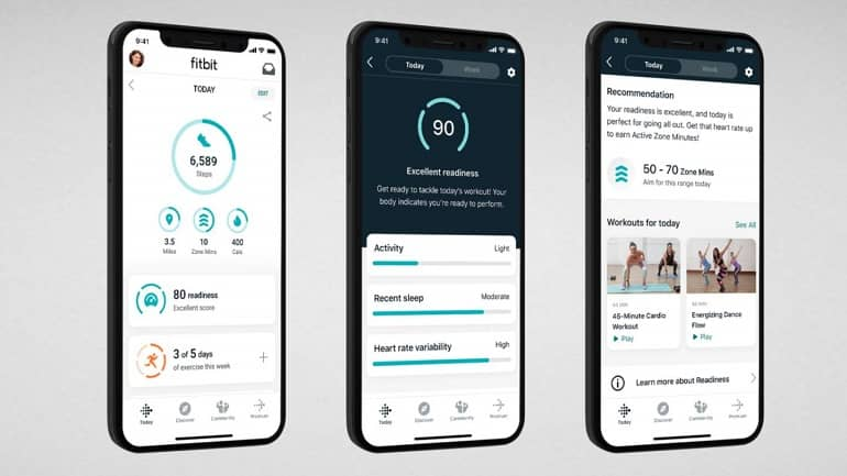 Fitbit Premium Daily Readiness High iOS Screens - فیب بیت Charge 5 با طراحی گرد و نمایشگر رنگی معرفی شد