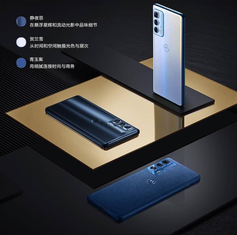 Motorola Edge S Pro colors - موتورولا از گوشی Edge S Pro رونمایی کرد