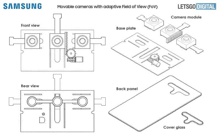 Samsung Movable Camera Variable Aperture Field of View FoV Patent 02 - پتنت جدید سامسونگ دوربین متحرک با دیافراگم متغیر و FoV را نشان می دهد
