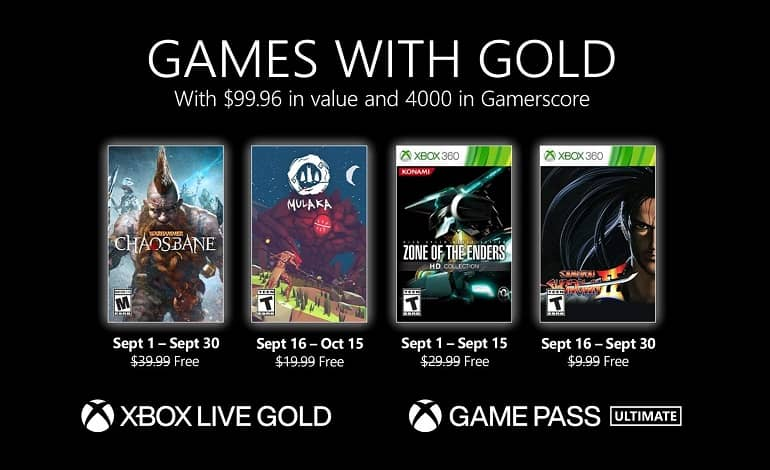 SepGwG 16x9 4UP Points ESRB Pricing - اعلام بازی های رایگان ماه سپتامبر 2021 ایکس باکس لایو گلد