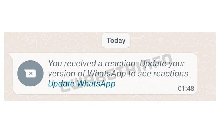 WA UPDATE TO SEE REACTION ANDROID - قابلیت واکنش به پیام ها به اپلیکیشن واتس اپ می آید