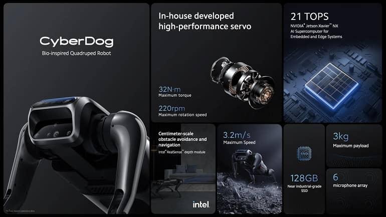Xiaomi CyberDog b 1 - شیائومی از سگ رباتیک جدید CyberDog رونمایی کرد