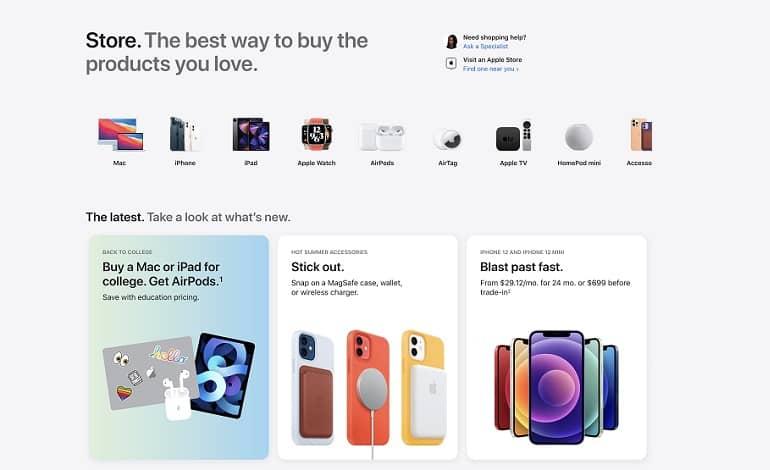 apple online store redesign 2021 launch cards - اپل فروشگاه آنلاین خود را بازطراحی کرد
