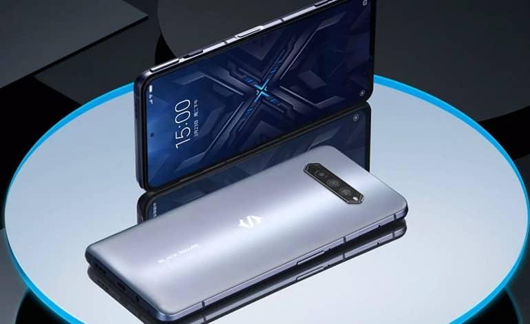 black shark 4 pro gaming phone silver color back front flat - فهرست 10 گوشی برتر ماه جولای 2021 از نگاه انتوتو