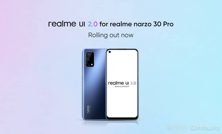 realme narzo 30 pro 5g android 11 realme ui 2 update - ریلمی Narzo 30 پرو 5G آپدیت اندروید 11 را دریافت کرد