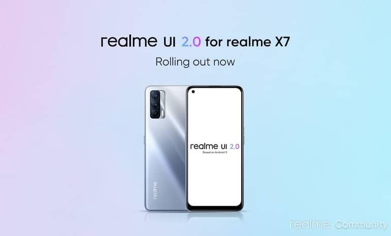 realme x7 android 11 realme ui 2 stable update - ریلمی X7 آپدیت پایدار اندروید 11 را دریافت کرد