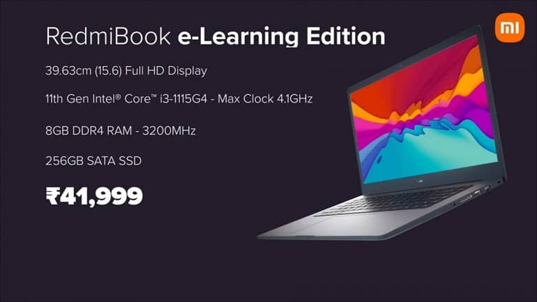 redmibook pro elearning edition india announced 1 - رونمایی شیائومی از لپ تاپ ردمی بوک 15 پرو و e-Learning Edition