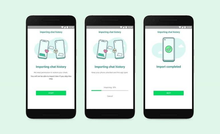 whatsapp transfer between ios android - امکان انتقال داده های چت واتس اپ بین اندروید و iOS فراهم شد