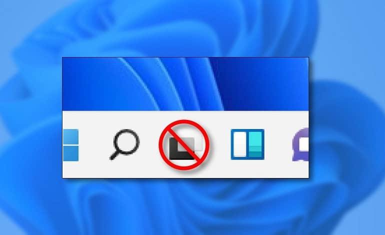 win11 hide taskview hero - نحوه پنهان کردن دکمه Task View در ویندوز 11