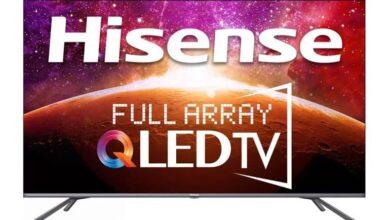 HiSense 4K QLED TV 390x220 - تلویزیون جدید 55 اینچی 4K QLED هایسنس با طراحی بدون حاشیه