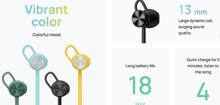 Huawei Freelace Lite b - عرضه هدفون بیسیم هواوی Freelace Lite با عمر باتری 18 ساعت