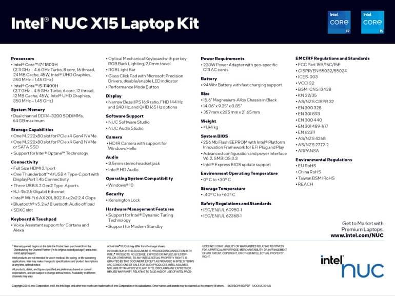 KNg0IsLMy2mPtemf - اینتل از کیت لپ تاپ گیمینگ NUC X15 رونمایی کرد