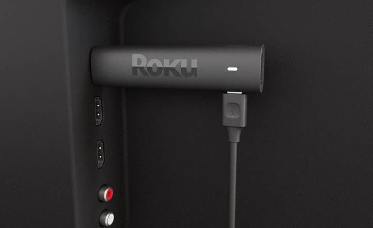 Roku Streaming Stick 4K behind TV - رونمایی روکو از دانگل Streaming Stick 4K با قابلیت های متنوع