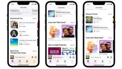 apple personalized recommendations podcasts 390x220 - افزودن توصیه های شخصی سازی شده در صفحه Listen Now پادکست اپل