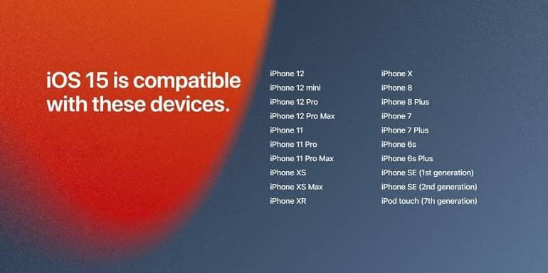 ios 15 etc rolling out - انتشار iOS 15 ،iPadOS 15 و watchOS 8 اپل از امروز