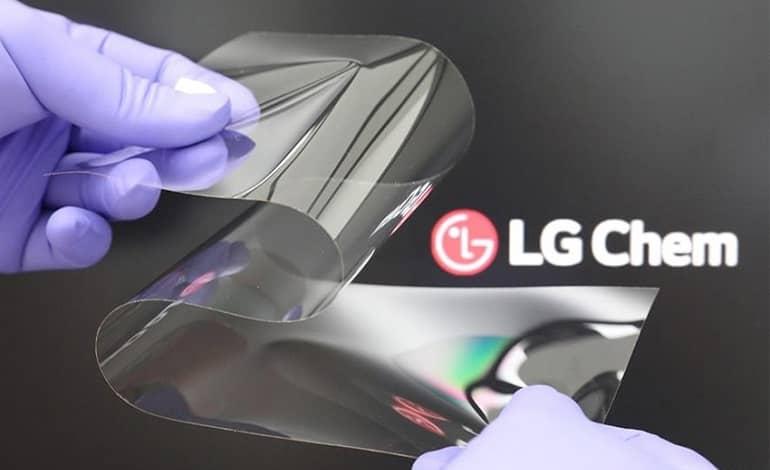 lg chem real folding window ofic - نمایشگر تاشوی جدید ال جی به سختی شیشه و بدون چین و چروک است
