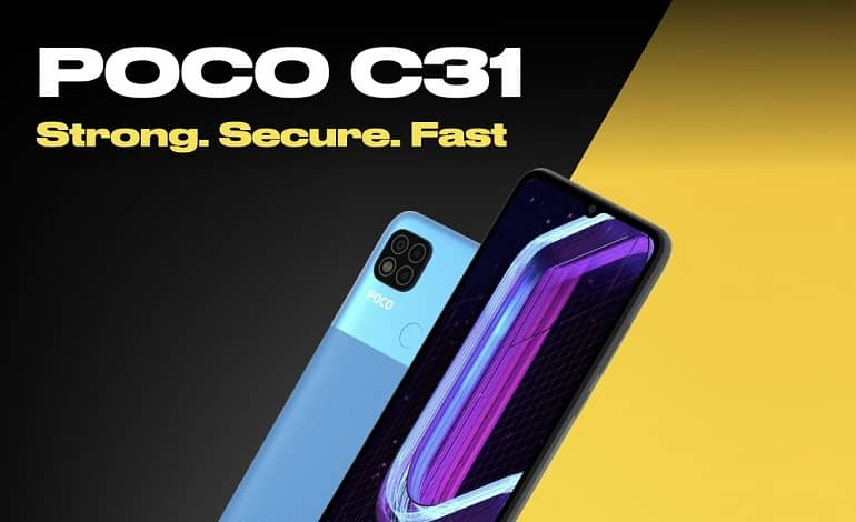 poco c31 official 1 - پوکو C31 با تراشه هلیو G35 معرفی شد