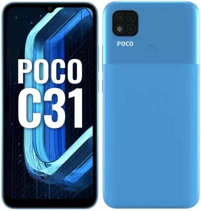 poco c31 official - پوکو C31 با تراشه هلیو G35 معرفی شد