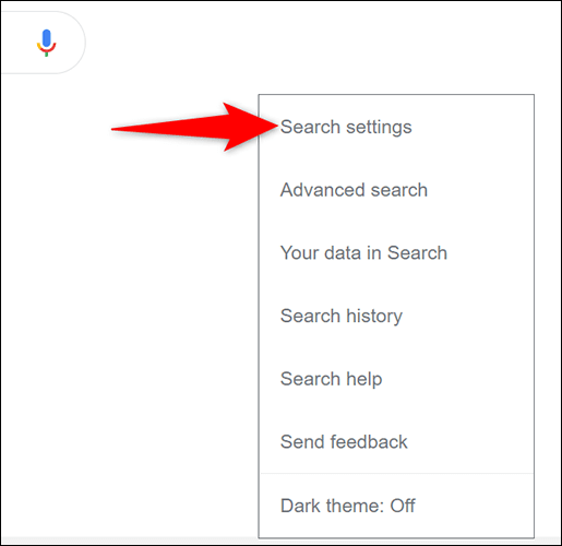 2 google desktop search settings - آموزش فعال سازی حالت تاریک در جستجوی گوگل