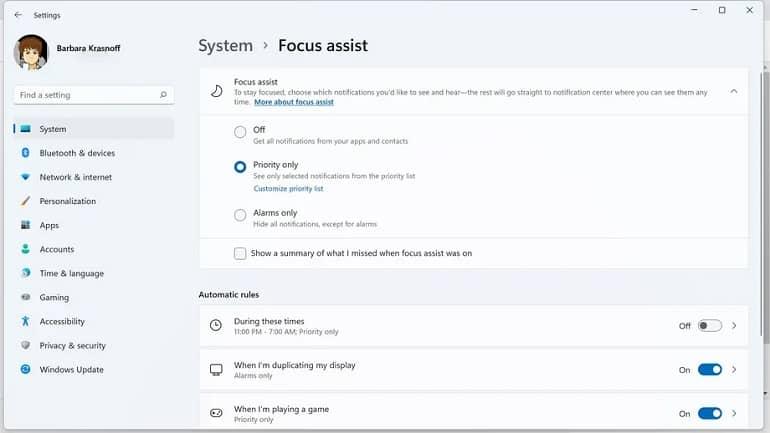 focus assist windows 11 microsoft how to 2 - نحوه استفاده از Focus Assist در ویندوز 11
