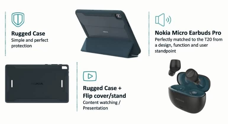 nokia t20 tablet announced 1 - تبلت نوکیا T20 با دو نسخه Wi-Fi و 4G رونمایی شد