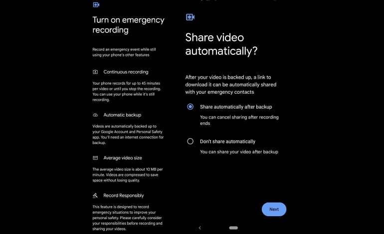 pixel emergency sos settings - گوشی های پیکسل در مواقع ضروری به طور خودکار ویدیو ضبط می کنند