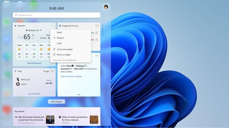 windows 11 widget how to microsoft 1 - نحوه کار با پنل ویجت ها در ویندوز 11