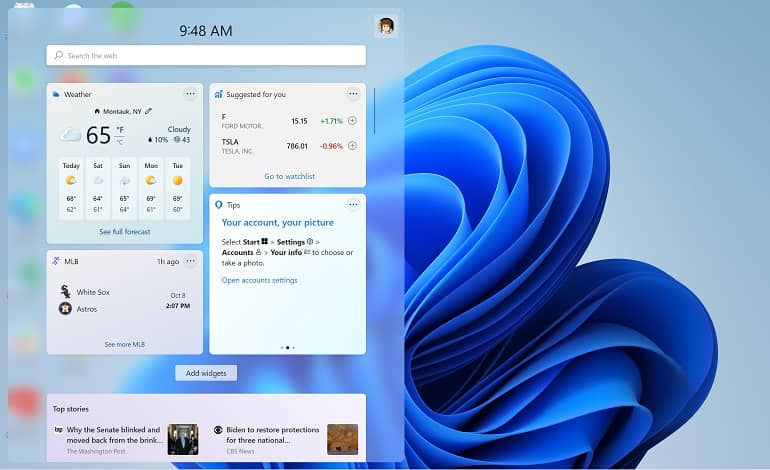 windows 11 widget how to microsoft - نحوه کار با پنل ویجت ها در ویندوز 11